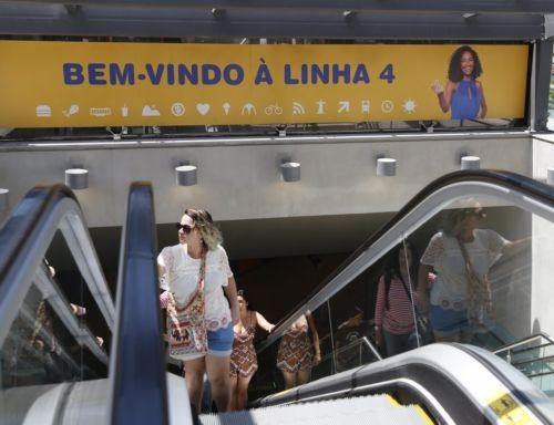 A Linha 4 do metrô foi entregue para a Rio-2016