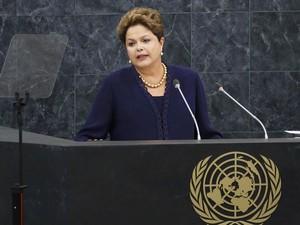 Dilma Rousseff faz discurso de abertura da 68ª Assembleia Geral da ONU e critica práticas de espionagem dos EUA (Foto: Mike Segar/Reuters)