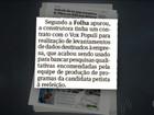 Andrade Gutierrez teria pago pesquisas para campanha de Dilma