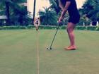 Fernanda Souza joga golfe para se preparar para nova personagem