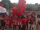 Amapaenses fazem ato contra o  impeachment da presidente Dilma