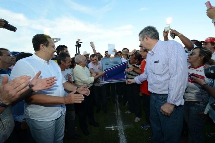 Estádio Gilbertão é reinaugurado em Manacapuru (Foto: Herick Pereira/Secom)