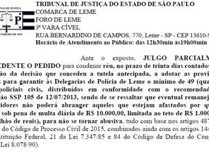 Decisão dá Justiça dá prazo de 30 dias para estado aumentar efetivo (Foto: Reprodução)