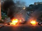 Protesto bloqueia trânsito na Avenida Boto de Menezes, em João Pessoa