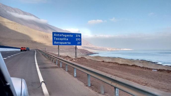 Águas do Oceano Pacífico, no Litoral do Chile (Foto: Istepôs Aventureiros/Divulgação)