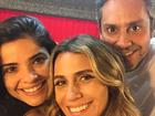 Giovanna Antonelli posa com Vanessa Giácomo e Alexandre Nero