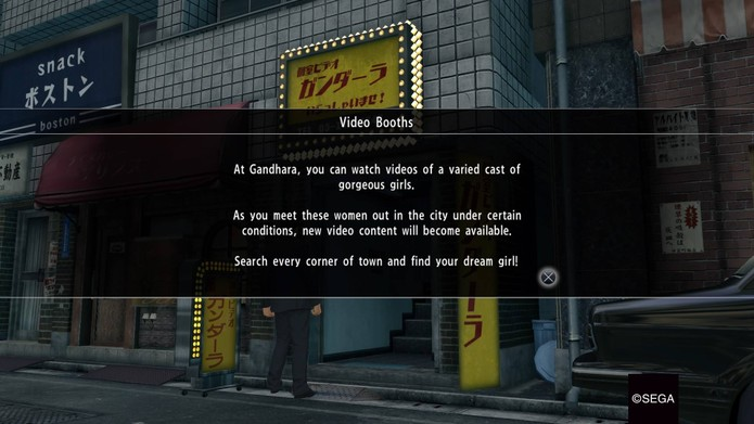 Casas de vídeo em Yakuza 0 (Foto: Reprodução/Felipe Vinha)