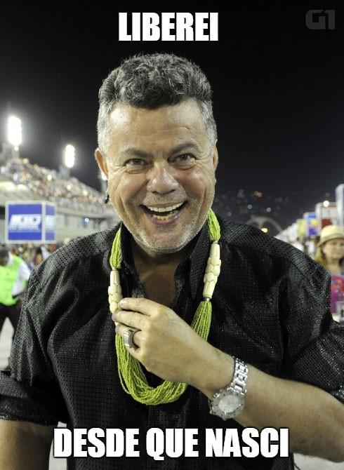 José Roberto: 'Essa é a ala 'Libere o louco que existe em você''. E o Milton respondeu... (Foto: Valéria del Cueto/Divulgação)