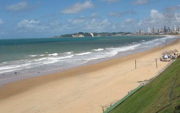 praia Natal (Foto: Marcelo Baltar/Globoesporte.com)