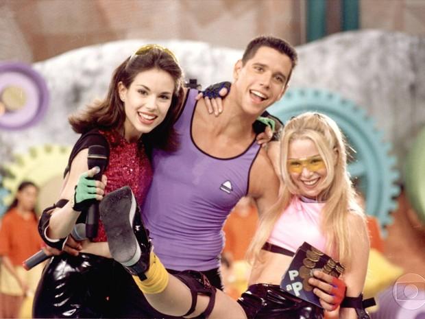 Ana Furtado, Danielle Winits e Mrcio Garcia comandam a gincana (Foto: Acervo Globo)