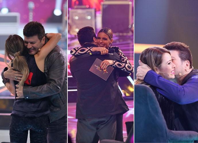 Roqueiro distribui abraços e carinho pelos bastidores do programa  (Foto: Isabella Pinheiro/ Gshow)