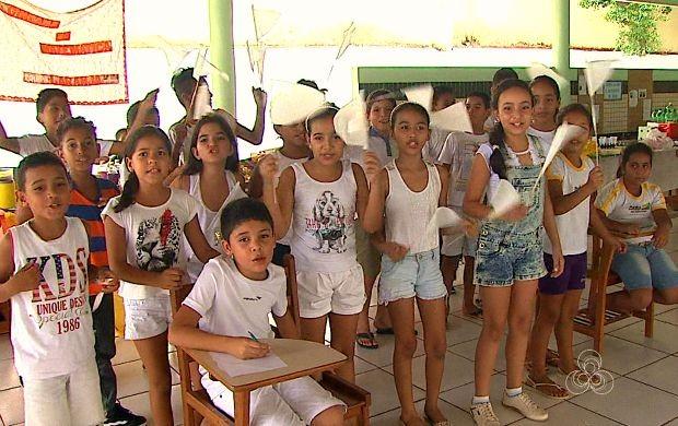 Gincana de matemática foi realizada no sábado (19) (Foto: Bom Dia Amazônia )