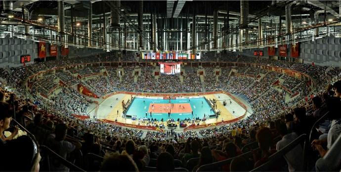 Ginásio de Cracóvia durante o Mundial de vôlei (Foto: Divulgação /FIVB)