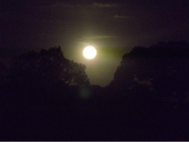 Lua cheio em Colombo (Foto:  Taffarel Tatarin/Vc no G1)