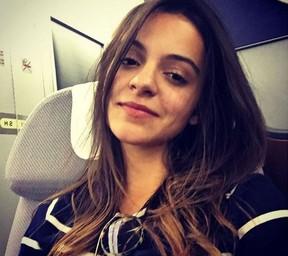 Pally Siqueira no avião a caminho da Alemanha (Foto: Reprodução/Instagram)