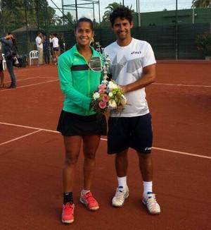 Teliana Pereira José Pereira irmãos tênis (Foto: Reprodução/Facebook)