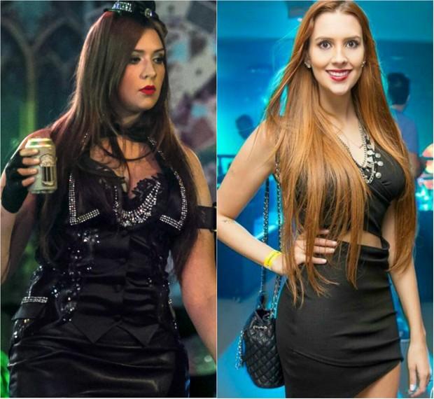 Ex-BBB Tamires Peloso: antes e depois (Foto: Paulo Belote / Globo)