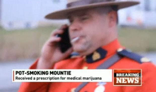 Policia pede para fumar maconha em serviço e cria polêmica no Canadá (Foto: Reprodução/CBC)