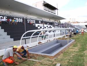 Bancos de reserva foram instalados nesta sexta-feira no Presidente Vargas (Foto: Magnus Menezes / Jornal da Paraíba)