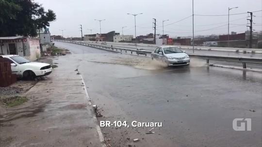 Caruaru tem 56% da chuva esperada para o mês de maio em 24 horas, diz Apac