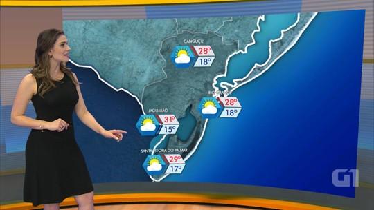 Sábado pode ter registro de chuva forte na Serra e Norte do RS