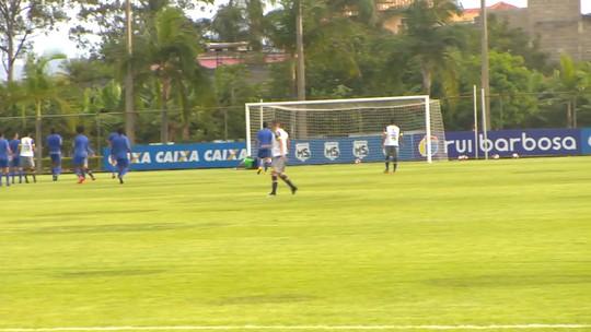 Em primeiro desafio do ano, Cruzeiro goleia o Águia em jogo-treino na Toca
