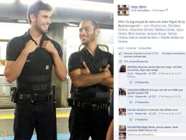 Foto de Guilherme foi compartilhada mais de 600 vezes (Foto: Reprodução/Facebook)