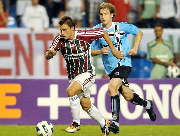 Rafael Sobis na partida do Fluminense contra o Grêmio (Foto: Agência Photocâmera)