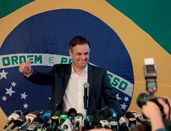 O senador Aécio Neves,candidato a presidnete em 2014 (Foto:  Alan Marques/Folhapress)