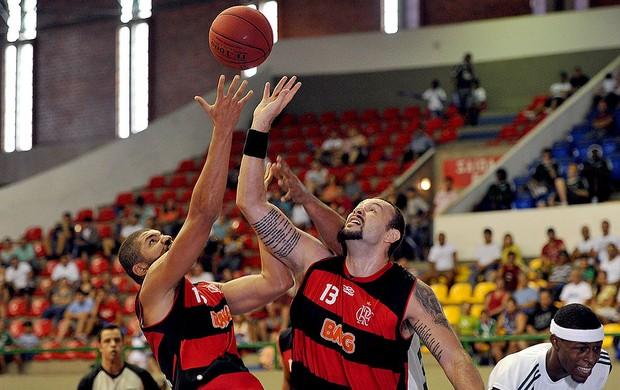 partida do Palmeiras contra o Flamengo basquete NBB (Foto: João Pires / LNB)