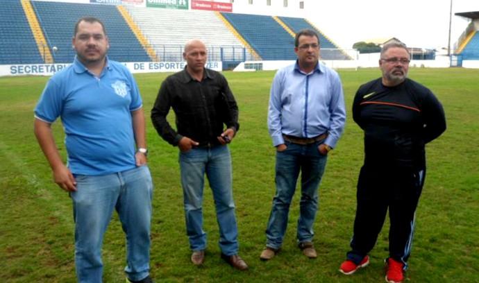 Pedro Coelho, Luiz Cruz, Ednaldo Costa, Ney de Paula, Marília (Foto: Divulgação / Marília AC)