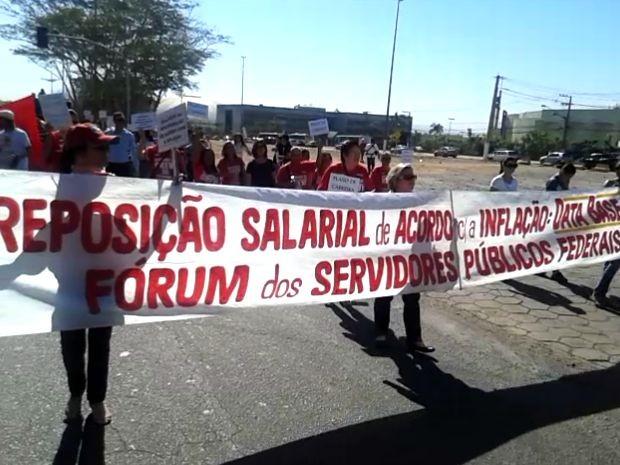 Servidores estão em greve desde o dia 7 de julho (Foto: Cleones Celestino Batista/ Sindisprev-MT)