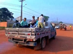 Garimpeiros ainda insistem em chegar à região da Serra da Borda (Foto: Reprodução / TVCA)