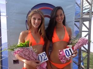 Caroline Rogelin Padilha e Andressa Mello Teixeira são finalistas do Garota Verão por Rio Grande (Foto: Roberta Lemes/G1)