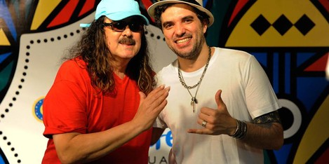 Moraes Moreira e Davi Moraes  (Foto: Diego Moraes / G1)