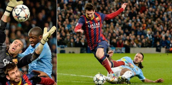 Barcelona x Manchester City (Foto: Getty Images)