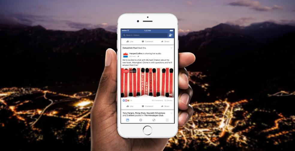 Facebook lança recurso para transmissão de áudio em tempo real