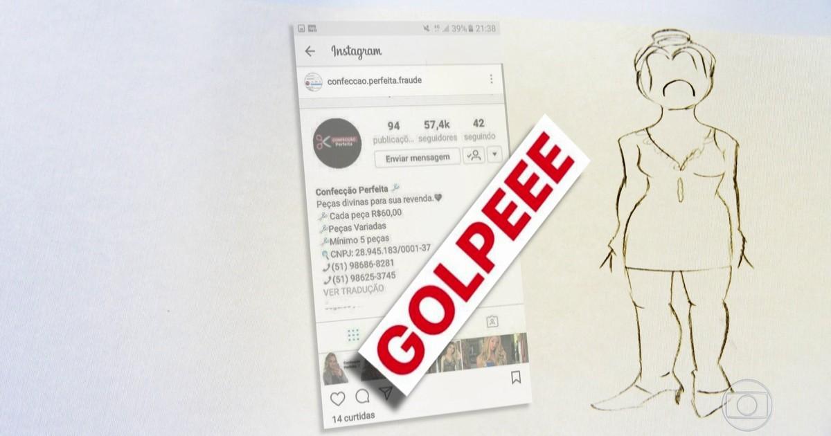 eb5b625f3 Fantástico - Saiba como funciona golpe das falsas lojas de roupas nas redes  sociais
