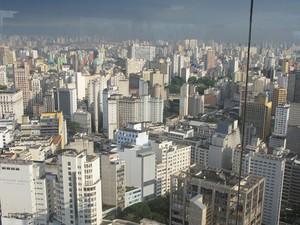 Parte da vista de SP que adoçou a vida de Osmar Silva  (Foto: Lívia Machado/G1)