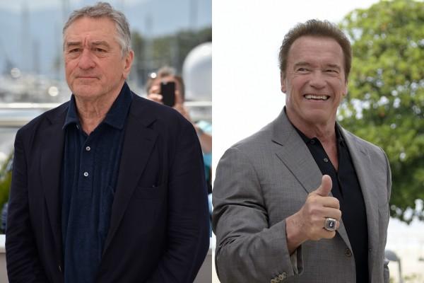 Robert De Niro e Arnold Schwarzenegger (Foto: Getty Images)