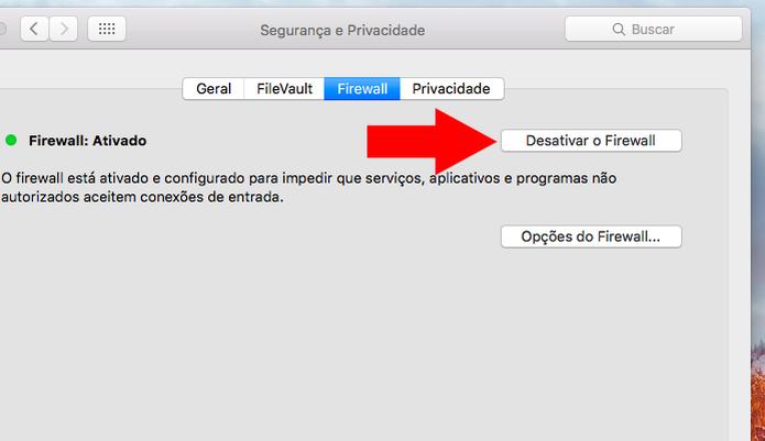 Desative o firewall do Mac (Foto: Reprodução/Paulo Alves) (Foto: Desative o firewall do Mac (Foto: Reprodução/Paulo Alves))