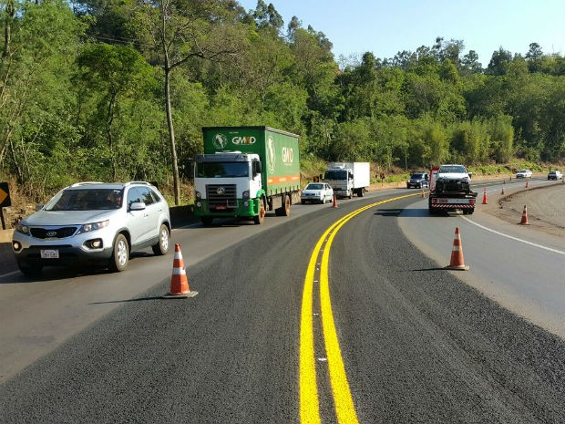 Locais foram sinalizados para orientar os motoristas (Foto: Ecocataratas/ Divulgação)