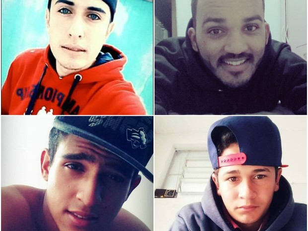 Vitor, Felipe, Gustavo e Felipe morreram em Ribeirão Bonito (Foto: Reprodução EPTV)