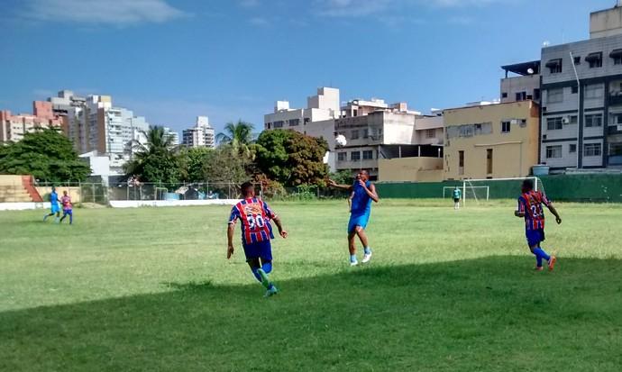 Vitória-ES venceu o time amador do Bahia de Cocal em jogo-treino neste sábado (Foto: Ana Carolini Mota/Vitória FC)