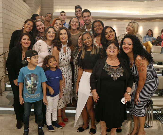 Plateia com a Fátima depois do 'Encontro' (Foto: Raphael Dias/Gshow)