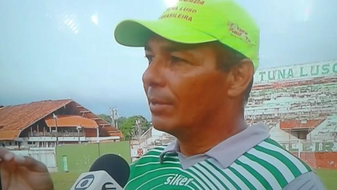 Charles Gatinho, técnico da Tuna (Foto: Reprodução/TV Liberal)