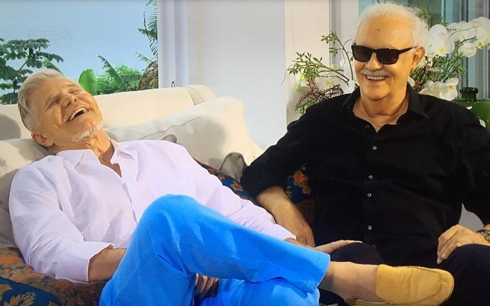 Miguel Falabella e Ney Latorraca no 'Estrelas' (Foto: TV Globo)