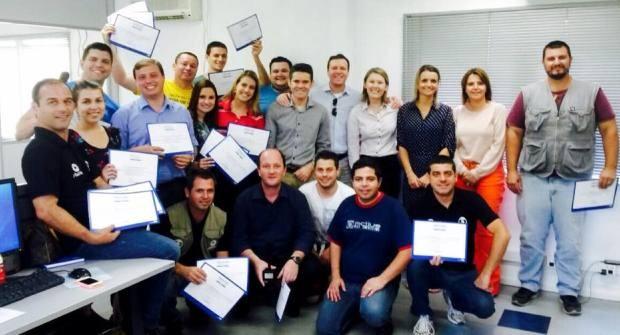 Profissionais de Joinville foram premiados (Foto: RBS TV/Divulgação)