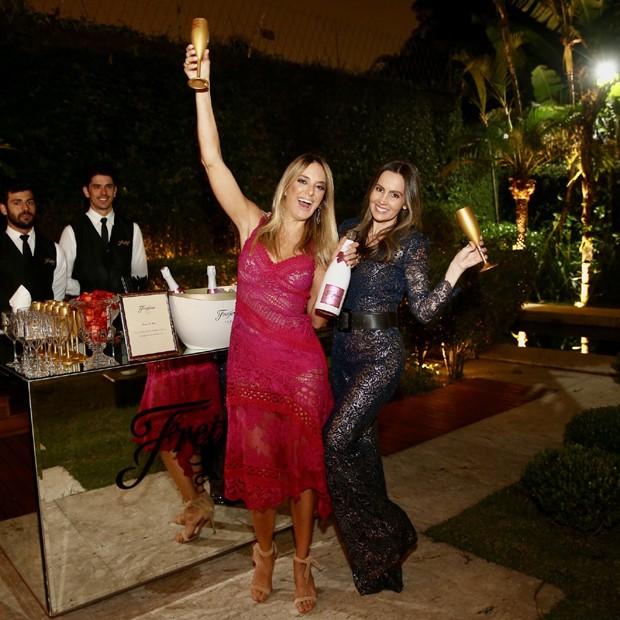 Ticiane Pinheiro brinda com a amiga Melissa Wilman (Foto: Manuela Scarpa/Brazil News)