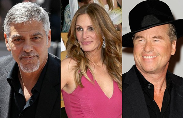 George Clooney, Julia Roberts, Val Kilmer (Foto: Getty Images)